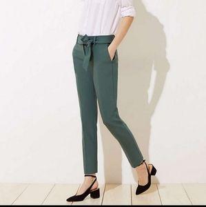 Marisa tie pants green